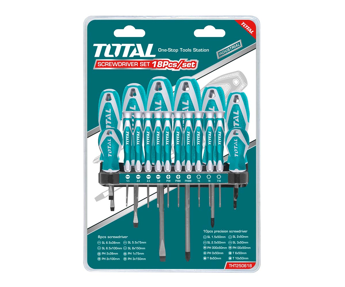 set preciznih odvijača Total THT250618